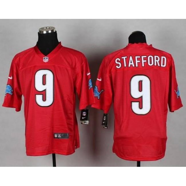 Nike Lions #9 Matthew Stafford Red Men's Stitched NFL Elite QB Practice Jersey