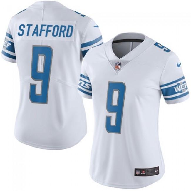 Women's Lions #9 Matthew Stafford White Stitched NFL Vapor Untouchable Limited Jersey