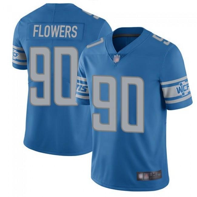 Nike Lions #90 Trey Flowers Blue Team Color Men's Stitched NFL Vapor Untouchable Limited Jersey