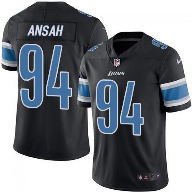 Detroit Lions #94 Ziggy Ansah Black Youth Stitched NFL Limited Rush Jersey