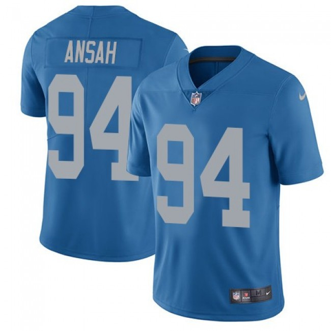 Detroit Lions #94 Ziggy Ansah Blue Throwback Youth Stitched NFL Vapor Untouchable Limited Jersey