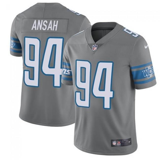 Detroit Lions #94 Ziggy Ansah Gray Youth Stitched NFL Limited Rush Jersey