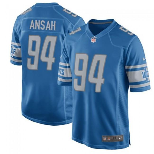 Detroit Lions #94 Ziggy Ansah Light Blue Team Color Youth Stitched NFL Elite Jersey