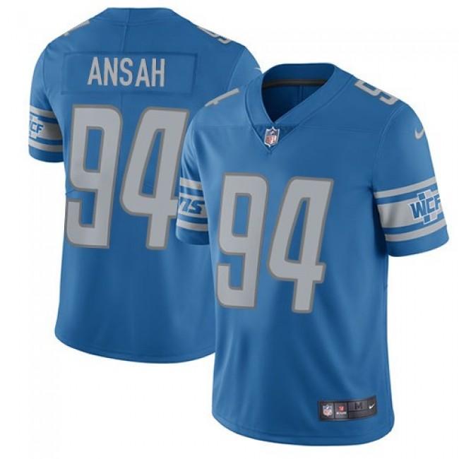 Detroit Lions #94 Ziggy Ansah Light Blue Team Color Youth Stitched NFL Vapor Untouchable Limited Jersey