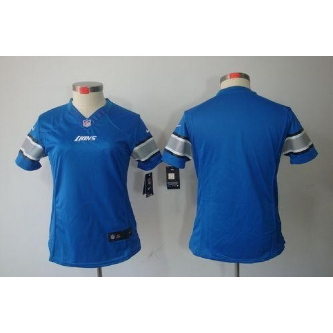 Women's Lions Blank Light Blue Team Color Stitched NFL Limited Jersey