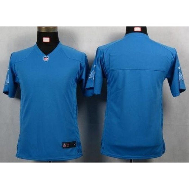 Detroit Lions Blank Light Blue Team Color Youth NFL Game Jersey