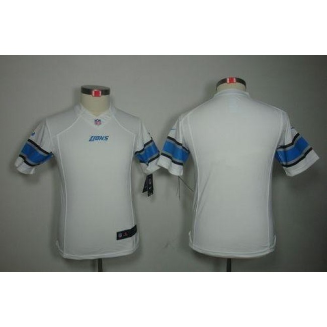 Detroit Lions Blank White Youth Stitched NFL Limited Jersey