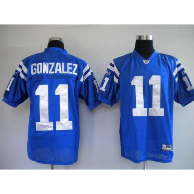 Colts #11 Anthony Gonzalez Blue Stitched NFL Jersey
