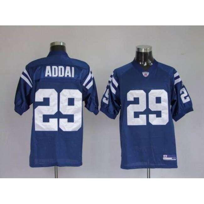Colts #29 Joseph Addai Blue Stitched NFL Jersey