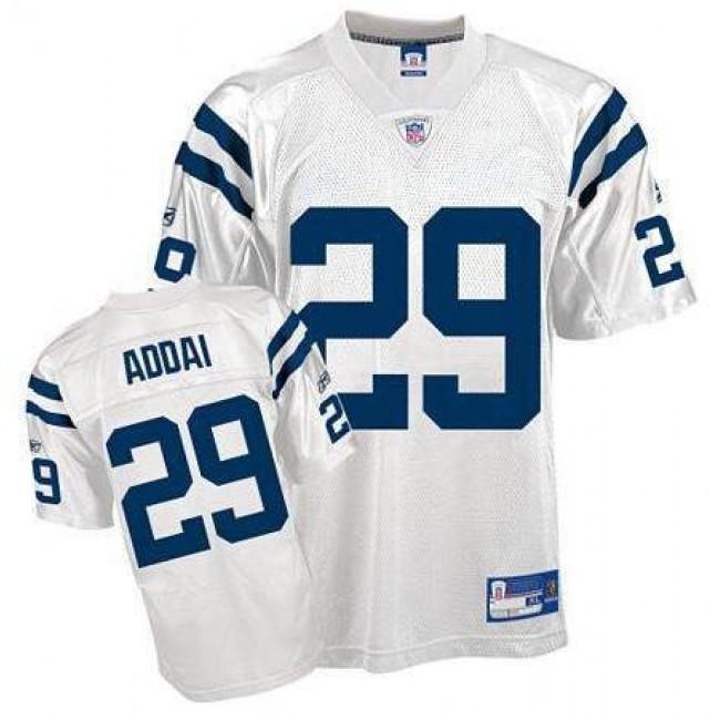 Colts #29 Joseph Addai White Stitched NFL Jersey
