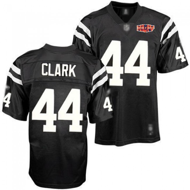 Colts #44 Dallas Clark Black Shadow With Super Bowl Patch Stitched NFL Jersey