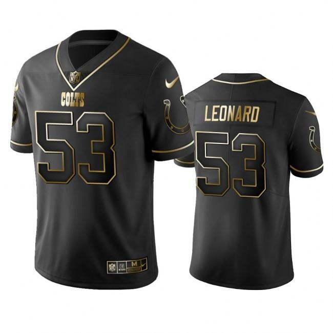 Colts #53 Darius Leonard Men's Stitched NFL Vapor Untouchable Limited Black Golden Jersey