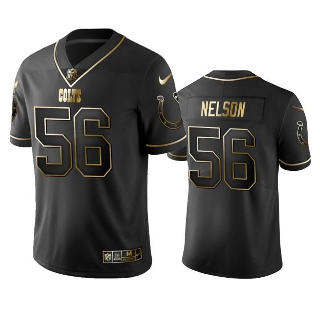 Colts #56 Quenton Nelson Men's Stitched NFL Vapor Untouchable Limited Black Golden Jersey