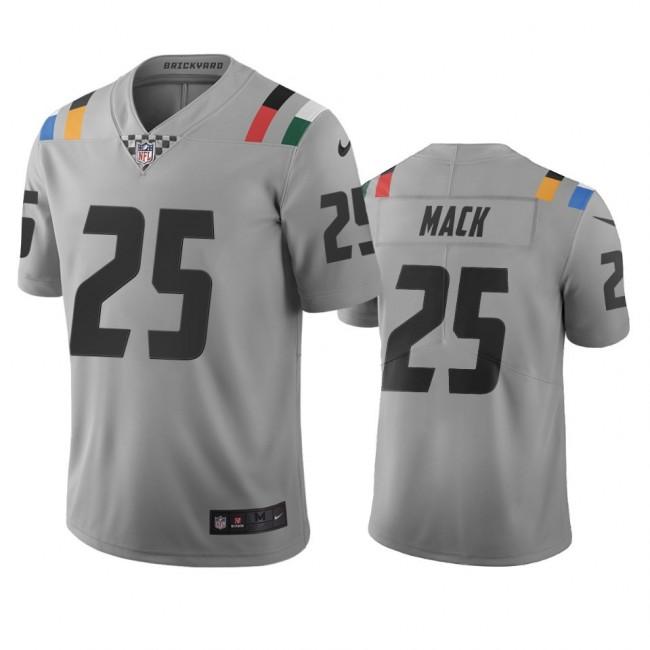 Indianapolis Colts #25 Marlon Mack Gray Vapor Limited City Edition NFL Jersey