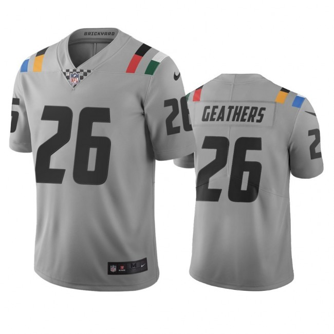 Indianapolis Colts #26 Clayton Geathers Gray Vapor Limited City Edition NFL Jersey