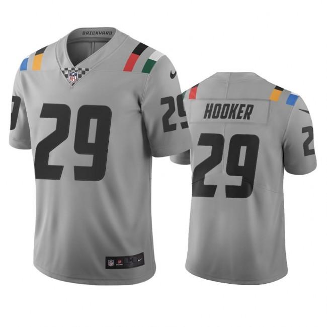 Indianapolis Colts #29 Malik Hooker Gray Vapor Limited City Edition NFL Jersey