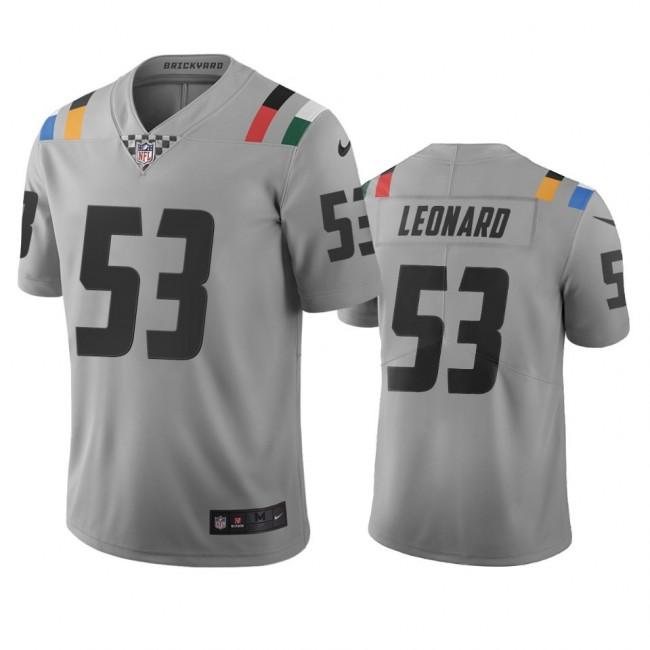 Indianapolis Colts #53 Darius Leonard Gray Vapor Limited City Edition NFL Jersey