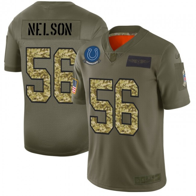Indianapolis Colts #56 Quenton Nelson Men's Nike 2019 Olive Camo Salute To Service Limited NFL Jersey