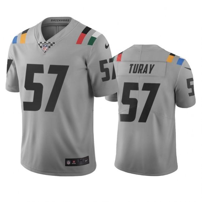 Indianapolis Colts #57 Kemoko Turay Gray Vapor Limited City Edition NFL Jersey