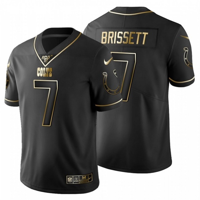 Indianapolis Colts #7 Jacoby Brissett Men's Nike Black Golden Limited NFL 100 Jersey