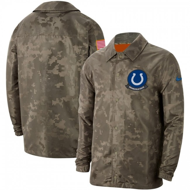 Men's Indianapolis Colts Nike Camo 2019 Salute to Service Sideline Full-Zip Lightweight Jacket