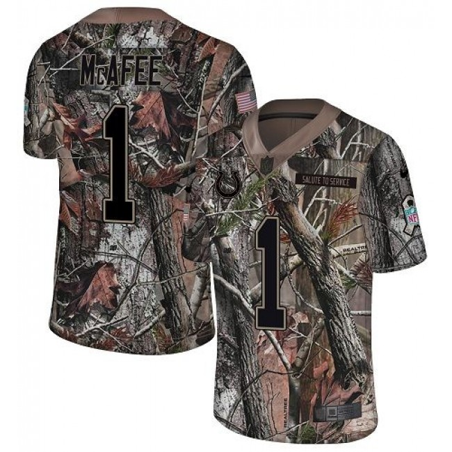 Nike Colts #1 Pat McAfee Camo Men's Stitched NFL Limited Rush Realtree Jersey