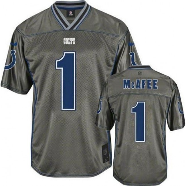 Indianapolis Colts #1 Pat McAfee Grey Youth Stitched NFL Elite Vapor Jersey