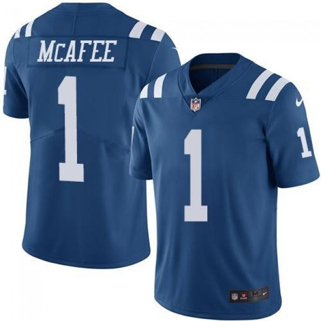 Nike Colts #1 Pat McAfee Royal Blue Men's Stitched NFL Limited Rush Jersey