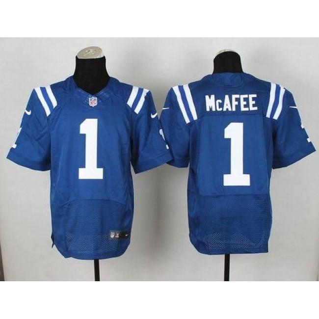 Nike Colts #1 Pat McAfee Royal Blue Team Color Men's Stitched NFL Elite Jersey