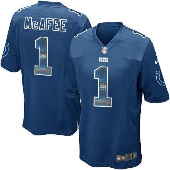 Nike Colts #1 Pat McAfee Royal Blue Team Color Men's Stitched NFL Limited Strobe Jersey