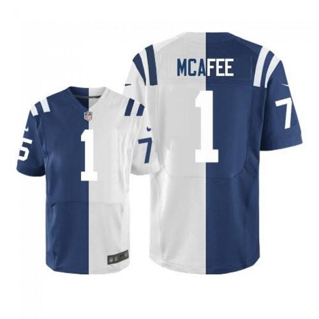 Nike Colts #1 Pat McAfee Royal Blue/White Men's Stitched NFL Elite Split Jersey