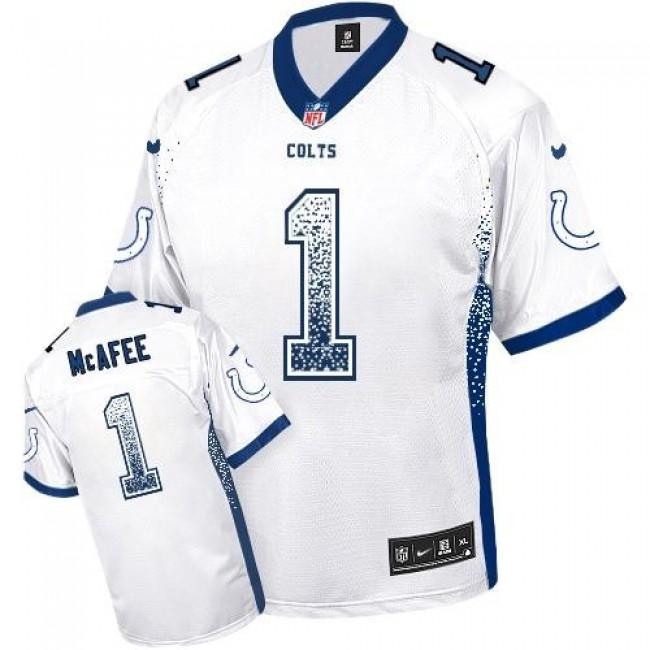 Nike Colts #1 Pat McAfee White Men's Stitched NFL Elite Drift Fashion Jersey