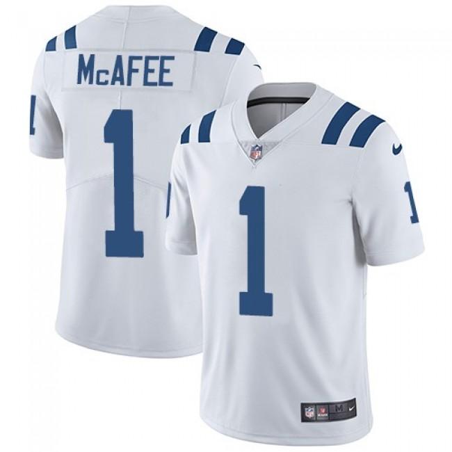Nike Colts #1 Pat McAfee White Men's Stitched NFL Vapor Untouchable Limited Jersey