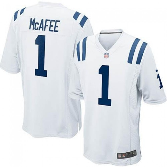 Indianapolis Colts #1 Pat McAfee White Youth Stitched NFL Elite Jersey