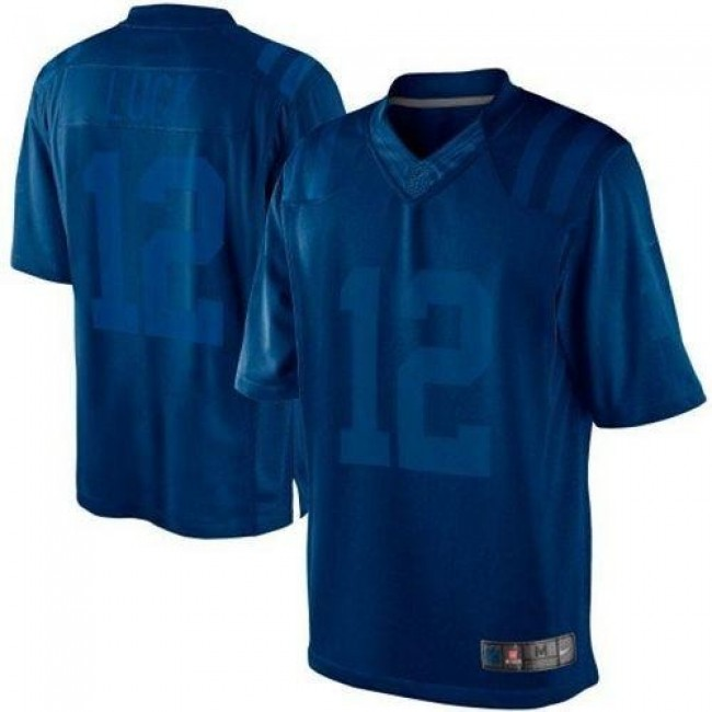 Nike Colts #12 Andrew Luck Royal Blue Men's Stitched NFL Drenched Limited Jersey