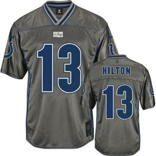 Nike Colts #13 T.Y. Hilton Grey Men's Stitched NFL Elite Vapor Jersey