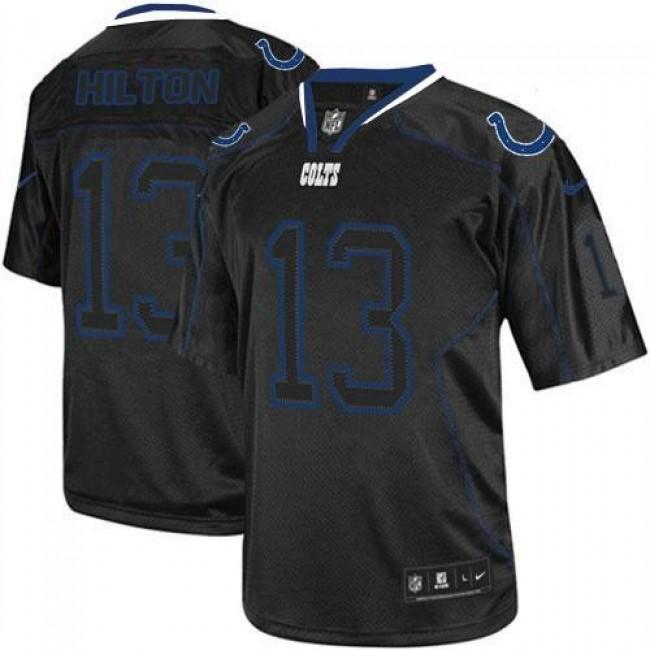 Nike Colts #13 T.Y. Hilton Lights Out Black Men's Stitched NFL Elite Jersey