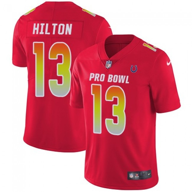 Nike Colts #13 T.Y. Hilton Red Men's Stitched NFL Limited AFC 2018 Pro Bowl Jersey