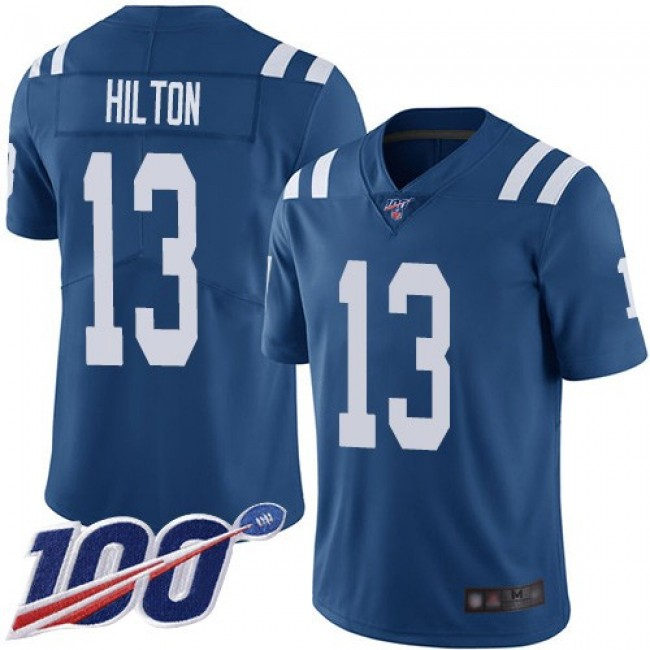 Nike Colts #13 T.Y. Hilton Royal Blue Men's Stitched NFL Limited Rush 100th Season Jersey