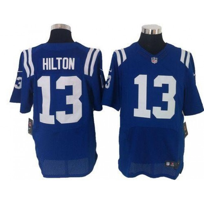 Nike Colts #13 T.Y. Hilton Royal Blue Team Color Men's Stitched NFL Elite Jersey