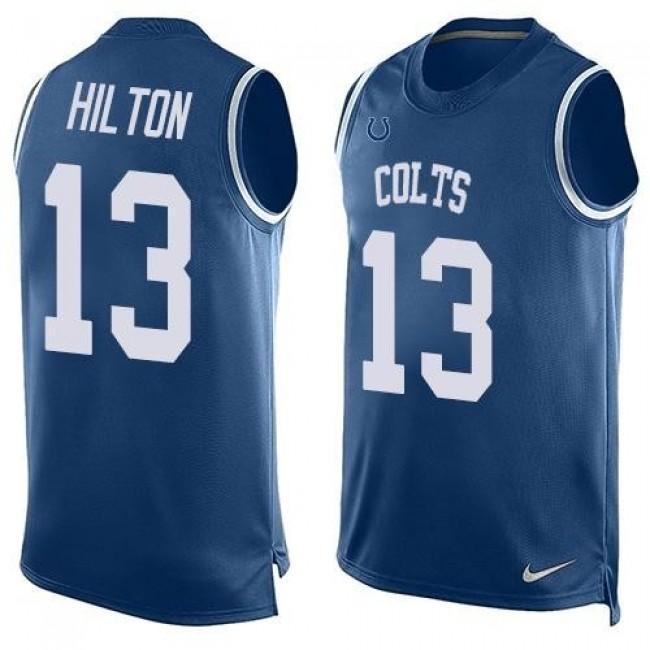 Nike Colts #13 T.Y. Hilton Royal Blue Team Color Men's Stitched NFL Limited Tank Top Jersey