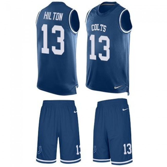 Nike Colts #13 T.Y. Hilton Royal Blue Team Color Men's Stitched NFL Limited Tank Top Suit Jersey