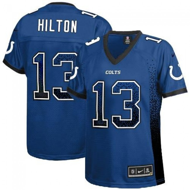 Women's Colts #13 T.Y. Hilton Royal Blue Team Color Stitched NFL Elite Drift Jersey