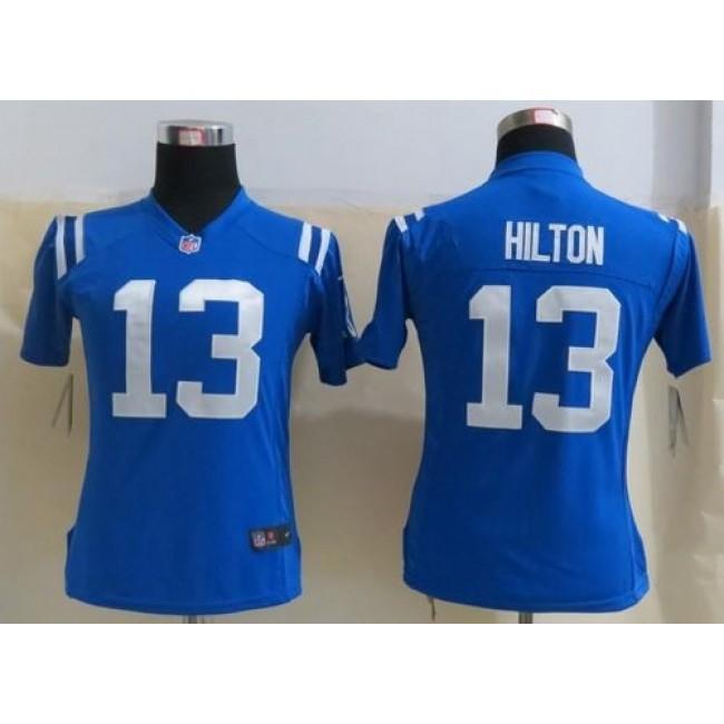 Women's Colts #13 T.Y. Hilton Royal Blue Team Color Stitched NFL Elite Jersey