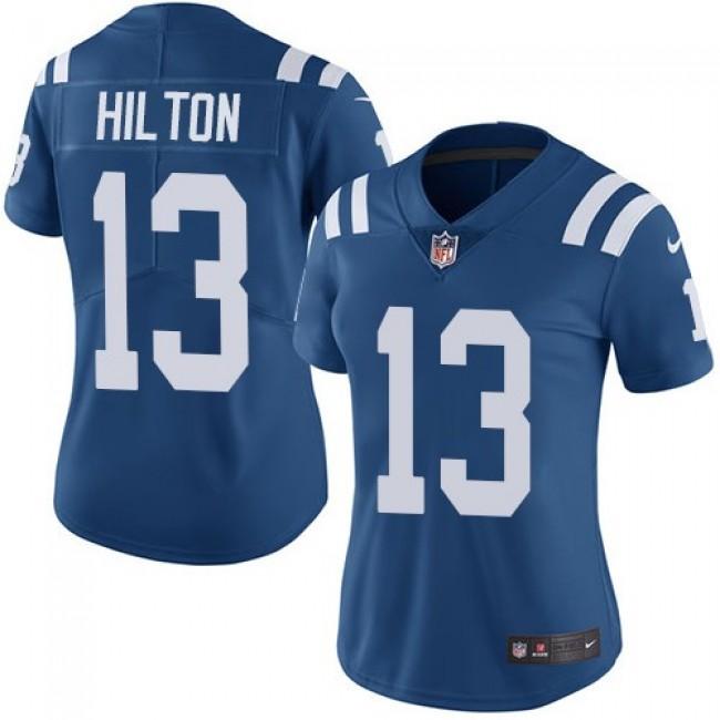 Women's Colts #13 T.Y. Hilton Royal Blue Team Color Stitched NFL Vapor Untouchable Limited Jersey