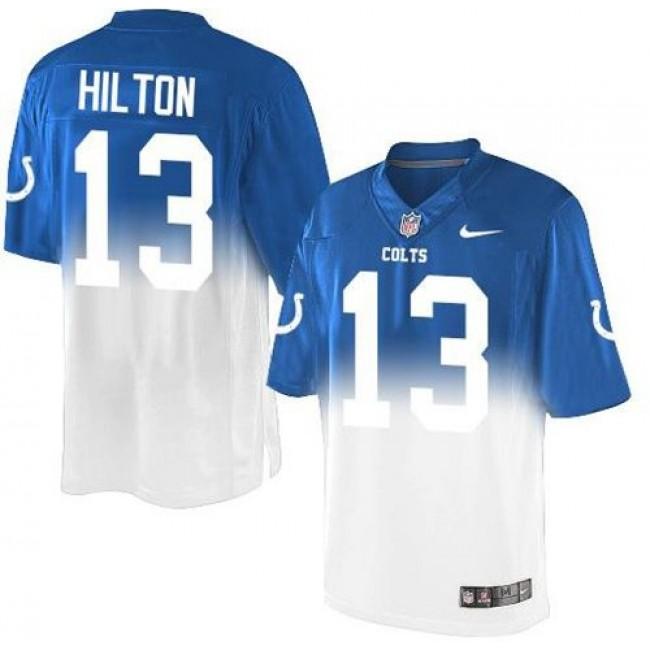 Nike Colts #13 T.Y. Hilton Royal Blue/White Men's Stitched NFL Elite Fadeaway Fashion Jersey