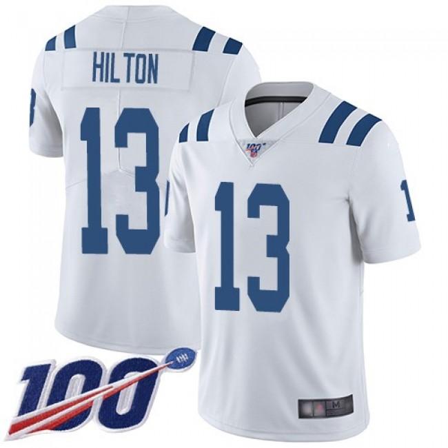 Nike Colts #13 T.Y. Hilton White Men's Stitched NFL 100th Season Vapor Limited Jersey