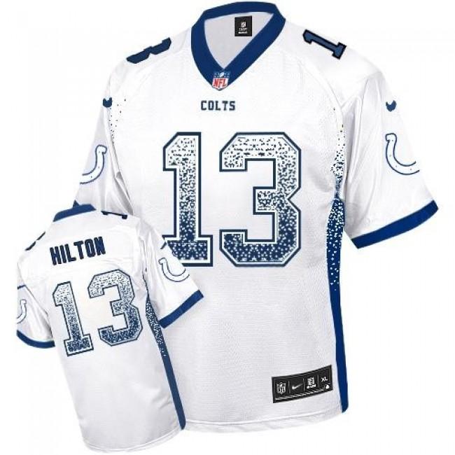 Nike Colts #13 T.Y. Hilton White Men's Stitched NFL Elite Drift Fashion Jersey