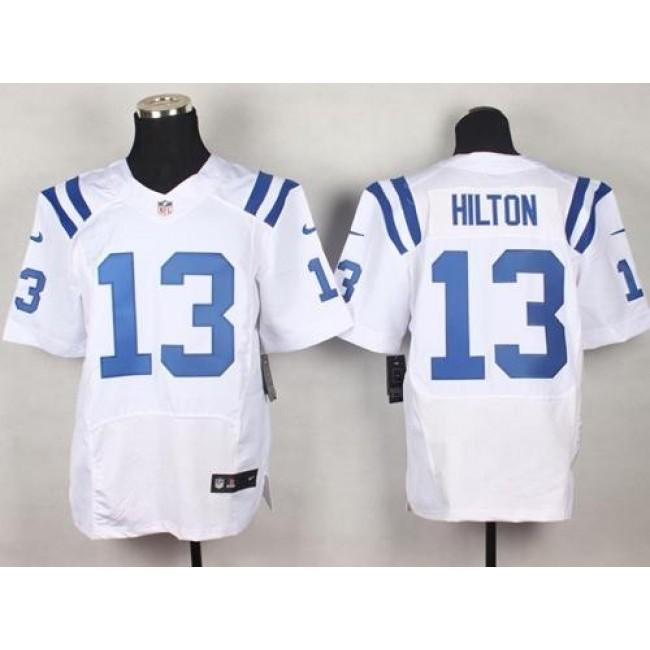 Nike Colts #13 T.Y. Hilton White Men's Stitched NFL Elite Jersey