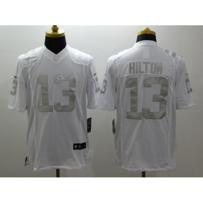 Nike Colts #13 T.Y. Hilton White Men's Stitched NFL Limited Platinum Jersey